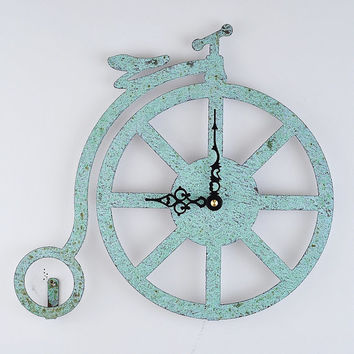 Penny Farthing Copper Wall Clock