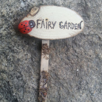 Fairy Garden Sign,mother's day gift,miniature sign,sign planter stake terrarium marker fairy garden,woodland miniature, fairy garden decor
