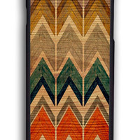 Retro Abstract Chevron Pattern On Wood for Iphone 6 Hard Cover Plastic
