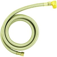 Aviditi 30501AVI Stainless Steel Braided Dishwasher Connector, 3/8-Inch Compression by 3/8-Inch MIP by 60-Inch