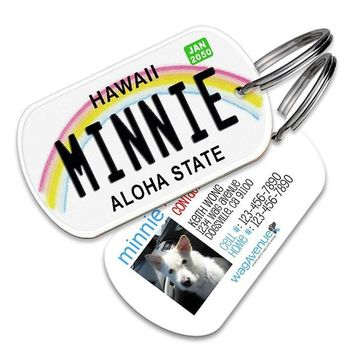 Hawaii License Plate Pet Tag