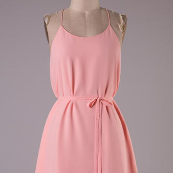 Peach Simplicity Dress with Racerback