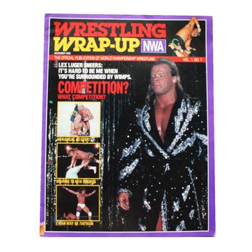 NWA WRAP UP MAGAZINE # 7 *WOMAN FOLD-OUT POSTER*