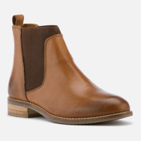 Dune Women's Quote Leather Chelsea Boots - Tan Womens Footwear | FREE UK Delivery | Allsole