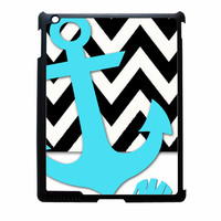 Chevron Anchor Personalized iPad 3 Case