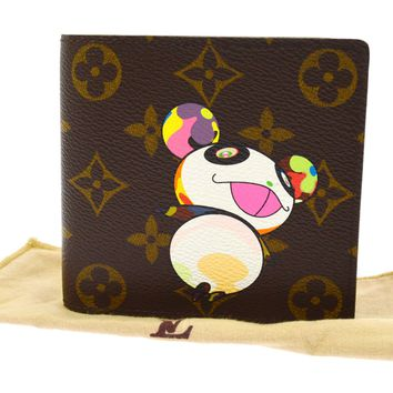 AUTHENTIC LOUIS VUITTON MONOGRAM PANDA TAKASHI MURAKAMI WALLET M61666 L00640