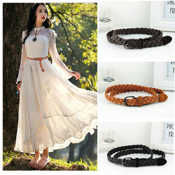 Rope Braid Belt For Dress