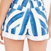 BDG Mom High-Rise Denim Short - Liza Stripe - Urban Outfitters