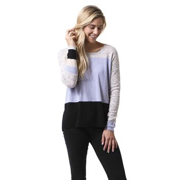 Rock Star Colorblock Cashmere Sweater in Opal by Lisa Todd - FINAL SALE