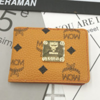 MCM New Fashion Women Small Wallet Brown