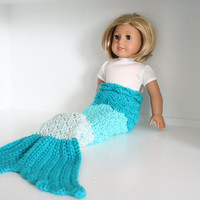 "Doll mermaid tail, mermaid tail for 18"" dolls, ombre mermaid tail, mermaid costume for dolls, American Girl Doll Clothes"