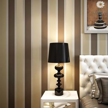 Striped Wallpaper For Walls Roll Modern Living Room Bedroom Sofa TV Background Non-woven Wall Papers Home Decor Wallpaper 10m