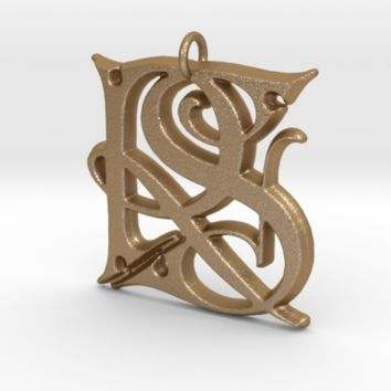 Monogram Initials RS Pendant by CalicoFlair on Shapeways