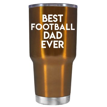 TREK Best Football Mom Ever on Copper 30 oz Tumbler Cup