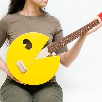 Pac Man ukulele paculele by celentanowoodworks on Etsy