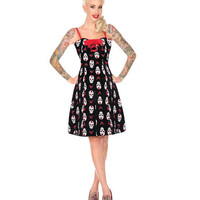 Jawbreaker Day of the Dead Lace Back Dress