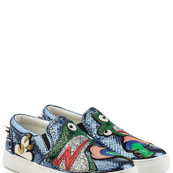 Embellished Leather Slip-On Sneakers - Marc Jacobs | WOMEN | US STYLEBOP.COM