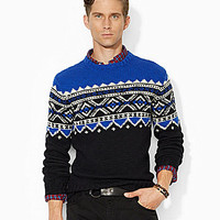 Polo Ralph Lauren Holiday-Patterned Merino Sweater - Black/Cream
