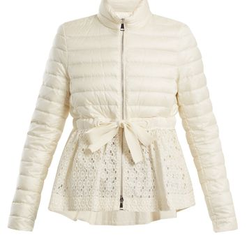 Serpentine quilted down embroidered jacket | Moncler | MATCHESFASHION.COM UK