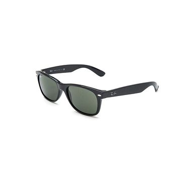 New Ray Ban Rb2132 901l New Wayfarer Shiny Black Mens Womens Sunglasses Glasses