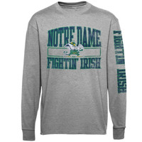 Notre Dame Fighting Irish Alta Gracia :Fair Trade: Manuel Long Sleeve T-Shirt – Gray