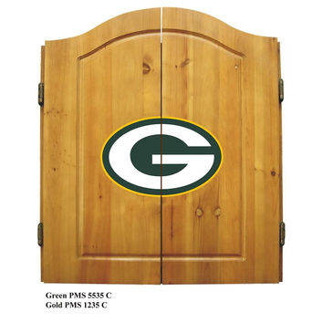 Green Bay Packers NFL Dart Board w-Cabinet