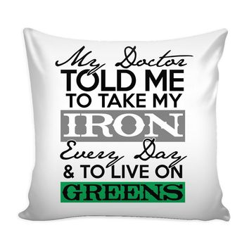 Vegan Vegetarian Graphic Pillow Cover Live On Greens