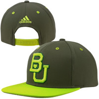adidas Baylor Bears 2014 March Madness Snapback Hat - Green