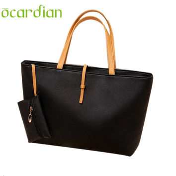 OCARDIAN Leather Women Messenger Bag Big Shoulder Bag Large Capacity Totes Bolsa Feminina fashion bags women handbag 2017 Gift