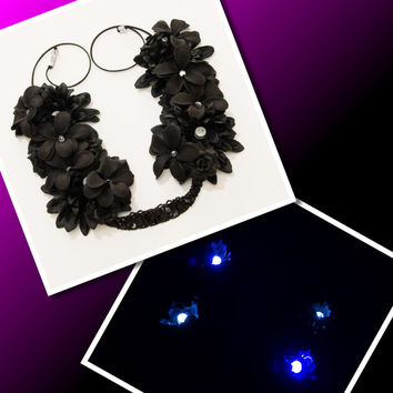 LED Black Rave Flower Crown, Electric Daisy Carnival, Fun Fun Fun Fest, Decadence NYE, Beyond Wonderland, Nocturnal Wonderland, Ezoo, PLUR