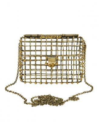ANNDRA NEEN Open Cage Clutch