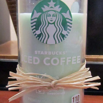 Starbucks Iced Coffee Candles - Repurposed Bottles