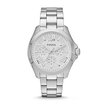 Cecile Multifunction Chronograph Watch, Silver | FOSSIL