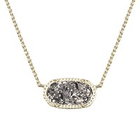 Elisa Pendant Necklace in Platinum Drusy - Kendra Scott Jewelry
