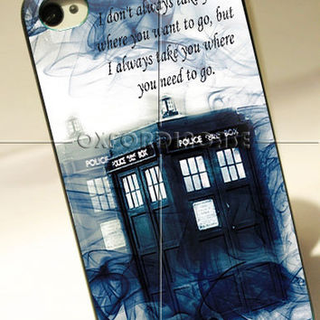 Tardis Doctor Who Smoke Quotes - for iPhone 4/4S case iPhone 5 case Samsung Galaxy S2/S3/S4 Case hard case