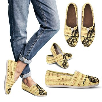 Violin Sketch Casual Shoes