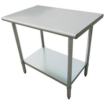 "Stainless Steel Work Prep Table 24"" x 24"" with Undershelf"