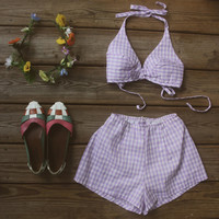 Vintage 2 piece Bathing Suit by LlorePemberton on Etsy