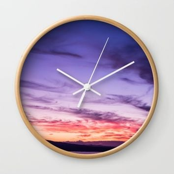 Auckland Sunset Wall Clock by Creativepics