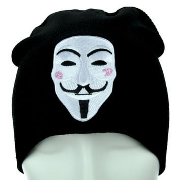 V for Vendetta Mask Beanie Alternative Clothing Knit Cap