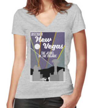 'Vintage New Vegas Skyline' Classic T-Shirt by hlectermd