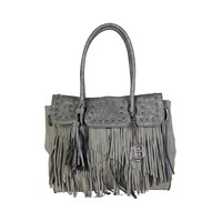Laura Biagiotti Grey Shoulder Bag