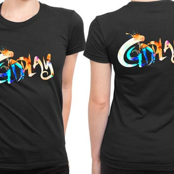 Coldplay Title 2 Sided Womens T Shirt