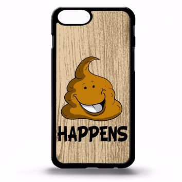 Poo emoji poop happens life quote phrase funny gift cartoon art phone case cover
