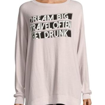 Wildfox - Graphic Long Sleeve Sweater