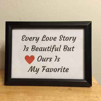 Wedding Printable Our Love Story is My Favorite, Printable Card, Anniversary Card, valentines card, Card for Him, Card for Her