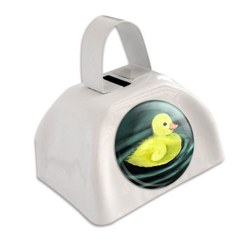 Duckling White Cowbell Cow Bell