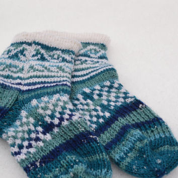"Knitted socks ""Christmas"""