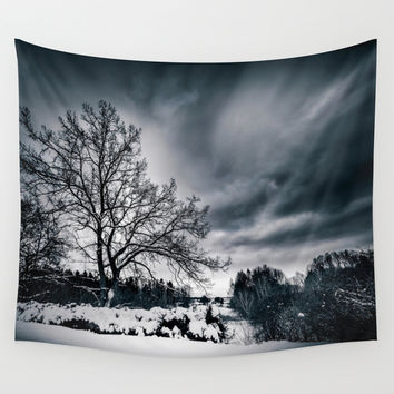 Cold winds.. Wall Tapestry by HappyMelvin