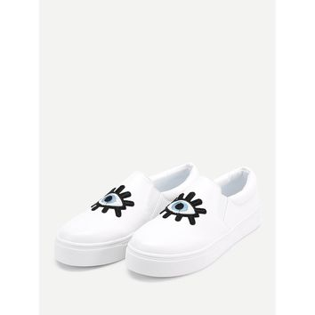 Eyes On You Embroidered Sneakers